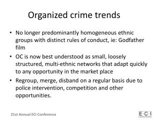 Organized crime trends