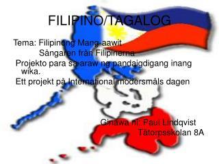 FILIPINO/TAGALOG