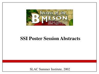 SSI Poster Session Abstracts