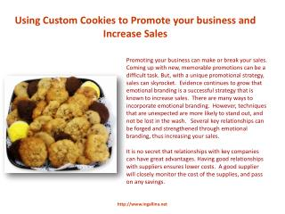Using Custom Cookies to Promote Your Business and Increase S