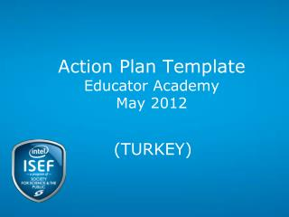 Action Plan Template Educator Academy May 2012
