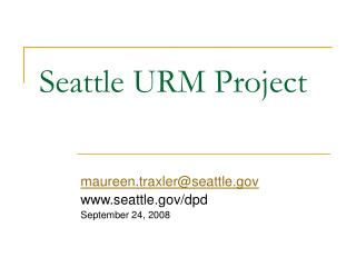 Seattle URM Project