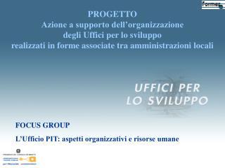 FOCUS GROUP L'Ufficio PIT: aspetti organizzativi e risorse umane