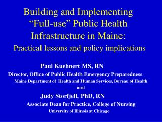 Paul Kuehnert MS, RN Director, Office of Public Health Emergency Preparedness