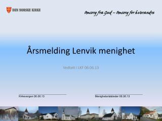 Årsmelding Lenvik menighet