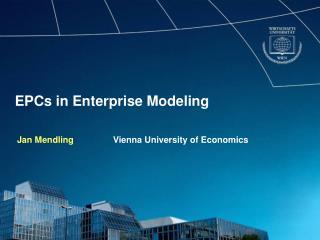 EPCs in Enterprise Modeling