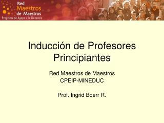 Inducci�n de Profesores Principiantes