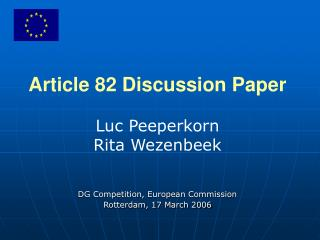 Article 82 Discussion Paper