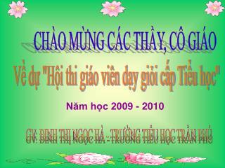 CH�O M?NG C�C TH?Y, C� GI�O