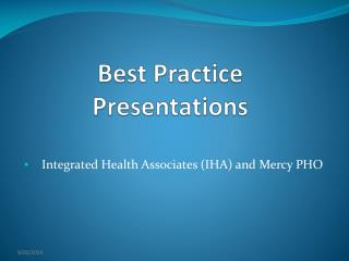 Best Practice Presentations