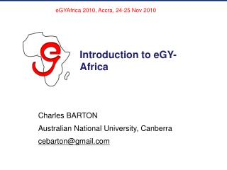 Introduction to eGY-Africa
