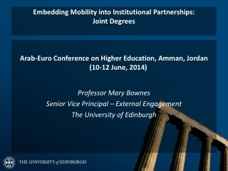 Embedding Mobility into Institutional Partnerships:  Joint Degrees