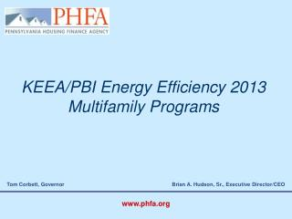 KEEA/PBI Energy Efficiency 2013 Multifamily Programs