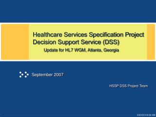 HSSP DSS Project Team