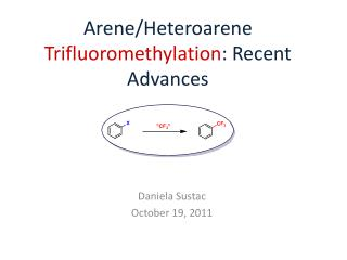 Arene / Heteroarene Trifluoromethylation : Recent Advances
