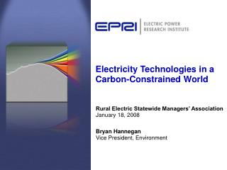 Electricity Technologies in a Carbon-Constrained World