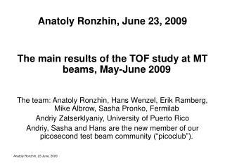 Anatoly Ronzhin, June 23, 2009