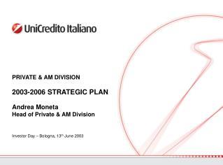 Investor Day – Bologna, 13 th  June 2003