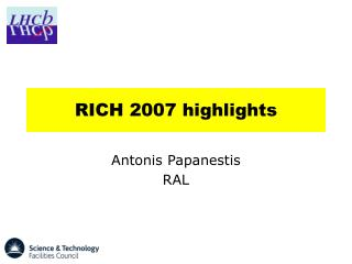 RICH 2007 highlights