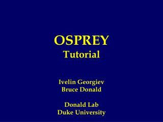 OSPREY Tutorial