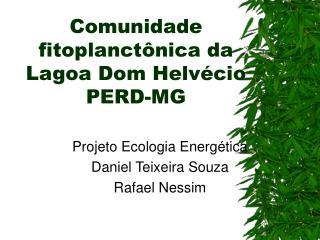 Comunidade fitoplanctônica da Lagoa Dom Helvécio PERD-MG