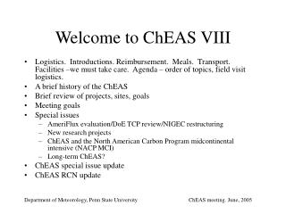 Welcome to ChEAS VIII