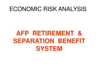 ECONOMIC RISK ANALYSIS