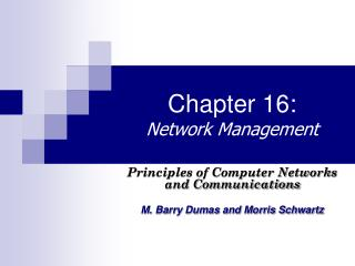 Chapter 16: Network Management
