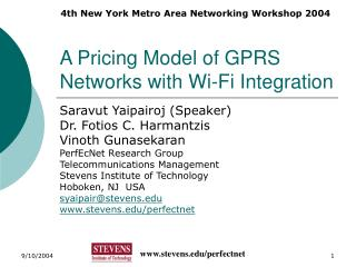 A Pricing Model of GPRS Networks with Wi-Fi Integration