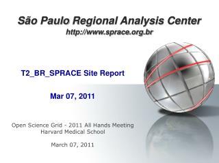 São Paulo  Regional Analysis Center sprace.br