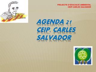 AGENDA  21 CEIP. CARLES SALVADOR