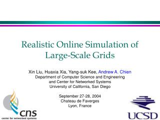 Realistic Online Simulation of Large-Scale Grids