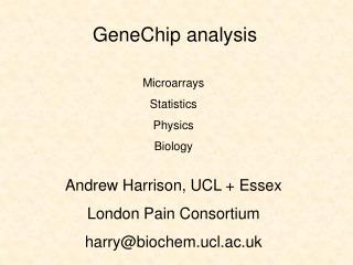 GeneChip analysis