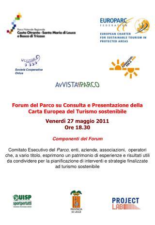 Forum del Parco su Consulta e Presentazione della Carta Europea del Turismo sostenibile
