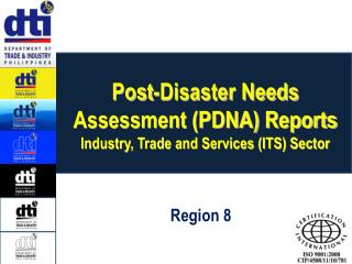 Post-Disaster Needs Assessment (PDNA) Reports Industry, Trade and Services (ITS) Sector