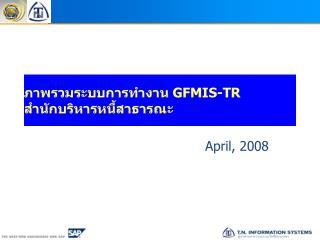 ภาพรวมระบบการทำงาน  GFMIS-TR สำนักบริหารหนี้สาธารณะ