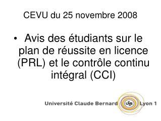 CEVU du 25 novembre 2008