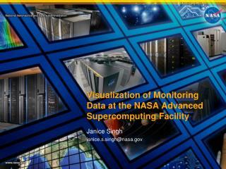 Visualization of Monitoring Data at the NASA Advanced Supercomputing Facility