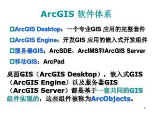 ArcGIS  软件体系