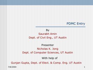 PDMC Entry