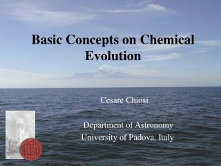 Basic Concepts on Chemical Evolution