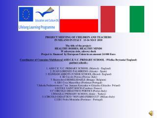 Spotkanie robocze koordynatorów i nauczycieli – Mediolan 5 – 9.05.2010 r.