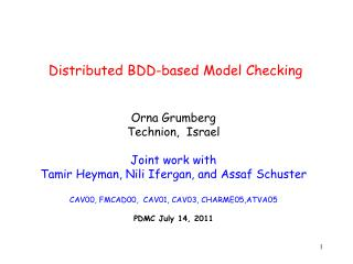 Distributed BDD-based Model Checking