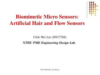 Chih-Wei Lin (D937708) NTHU PME Engineering Design Lab.