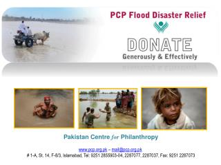 Pakistan Centre  for  Philanthropy pcp.pk  –  mail@pcp.pk