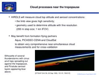 Cloud processes near the tropopause
