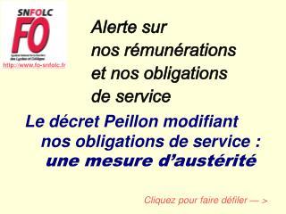 Alerte sur  nos rémunérations  et nos obligations  de service