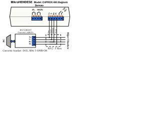 MikroHENDESE   Model: C4PROX-485 Bağlantı Şeması