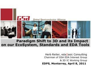 Paradigm Shift to 3D and its Impact  on our EcoSystem, Standards and EDA Tools