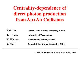 Centrality-dependence of  direct photon production  from Au+Au Collisions